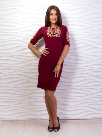 Платье с вышивкой на груди. Арт.2013