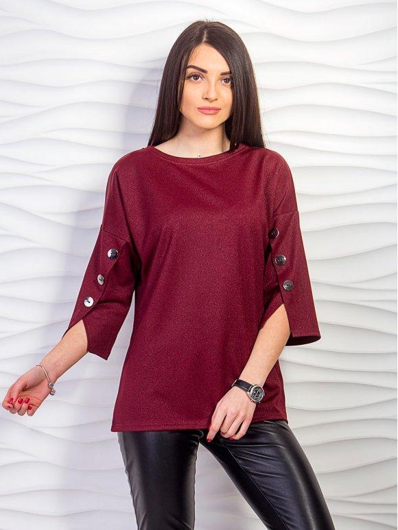 Блуза с декоративными пуговицами на рукавах. Арт.2242