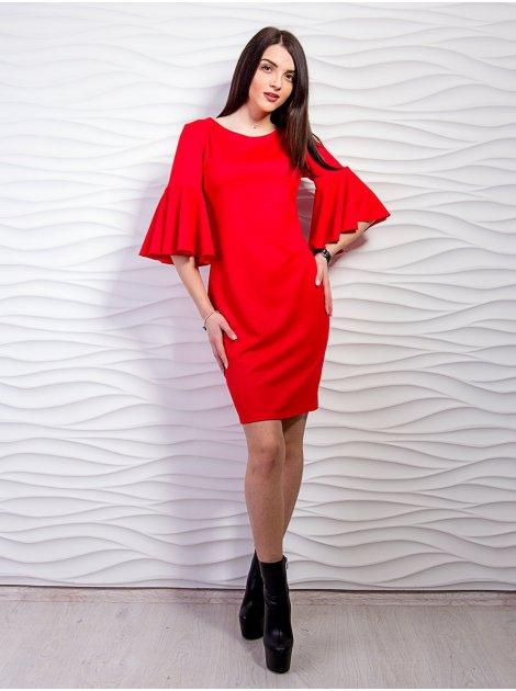 Модное платье с воланами на рукавах. Арт.2283