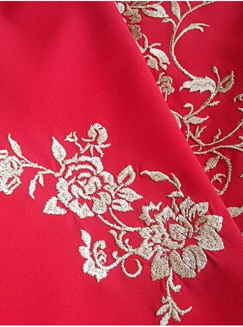 Платье батал с вышивкой. Арт.2291