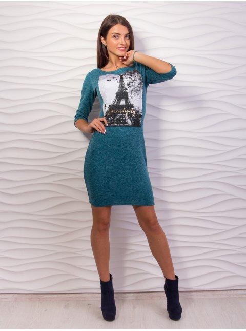 Платье с принтом. Арт.2026