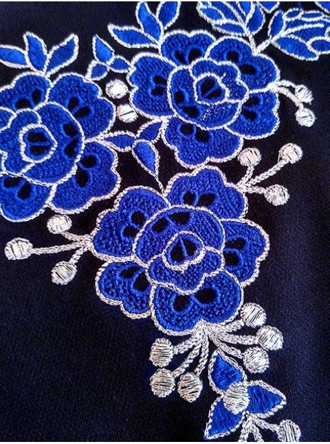 платье-футляр с вышивкой. Арт.2029