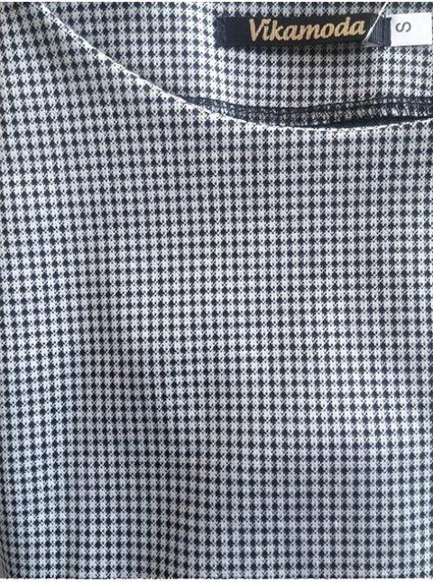 Платье батал из ткани в узор «гусиная лапка». Арт.2419