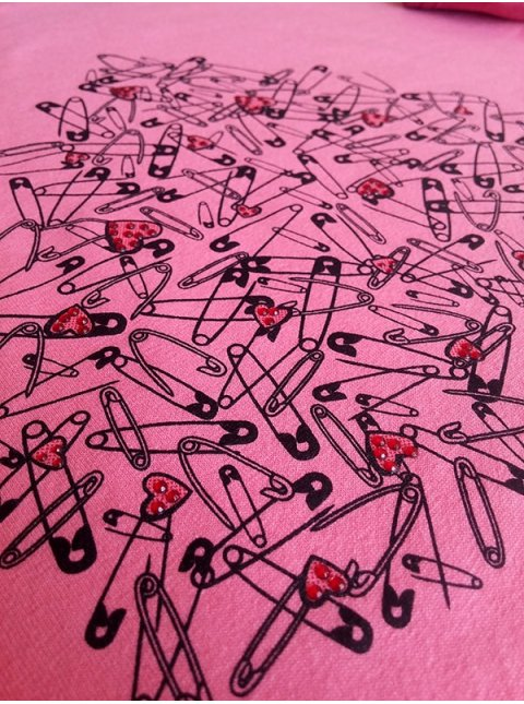 Легкая укороченная футболка с принтом и стразами.Арт.2352
