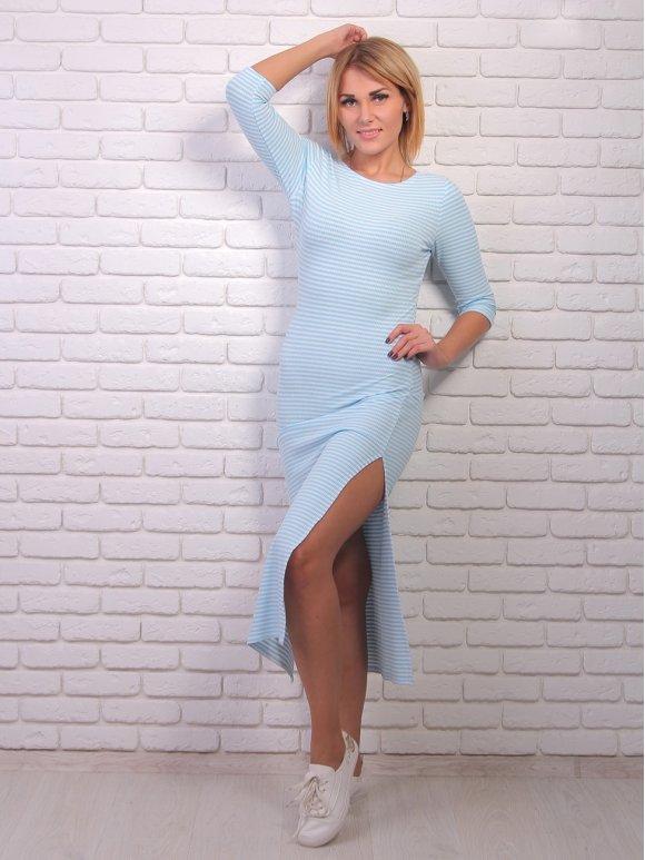 Платье длины миди с распорками по бокам. Арт.2019