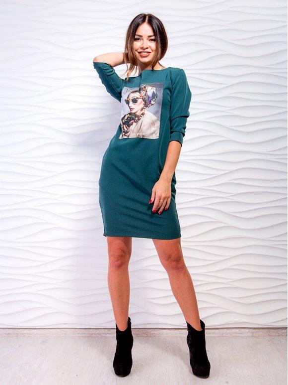 Платье-футляр с карманами. Арт.2063