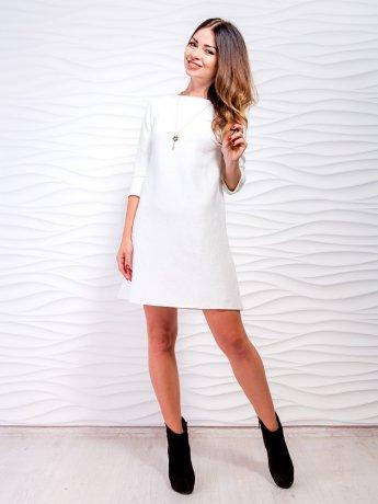 Короткое платье А-силуэта с украшением. Арт.2132