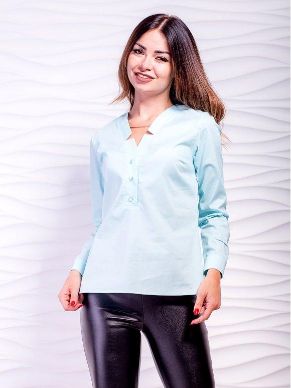 Стильная блуза с оригинальным V-образным вырезом. Арт.2477