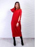 Стильное платье-миди с оригинальными разрезами на рукавах. Арт.2509