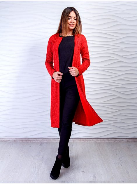 Модный кардиган с удобными карманами распорками по бокам. Арт.2490