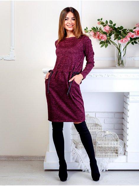 Женственное платье на завязках спереди и удобными карманами. Арт.2493