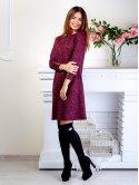 Кокетливое платье с пуговицами на рукавах и карманами. Арт.2508