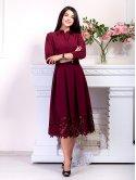Роскошное платье с дорогим кружевом по низу. Арт.2483