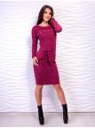 Красивое платье из ангоры с поясом и украшениями в виде жемчуга. Арт.2529