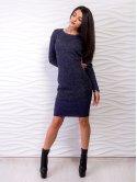 Комбинированное платье приталенного силуэта. Арт.2526
