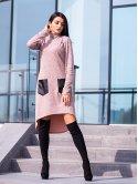 Шикарное платье со стойкой и удобными карманами. Арт.2470