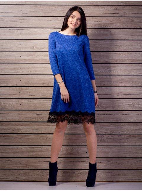 Платье А-силуэта с кружевом. Арт.2139