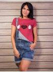 Укороченная футболка с круглым вырезом. Арт.1996