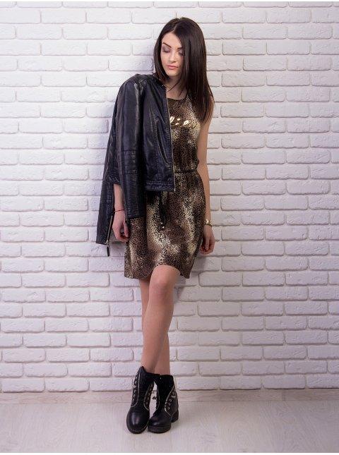 """Платье с принтом """"леопард"""". Арт.1152"""