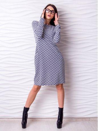 Платье А-силуэта средней длины. Арт.2151