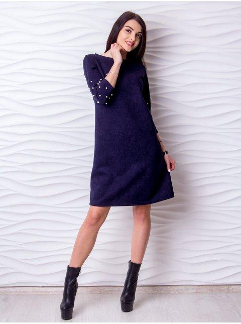 Платье замшевое А-силуэта. Арт.2202