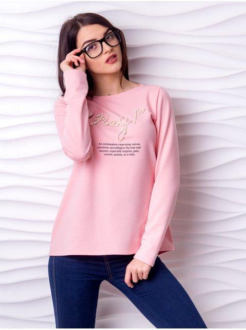 Трикотажный свитер с надписью. Арт.2200