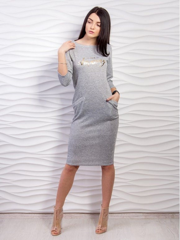 Платье миди с карманами. Арт.2195