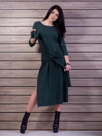 Платье приталенного силуэта с вшивным поясом. Арт.2184