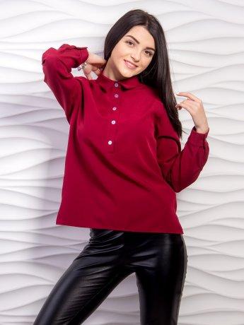 Однотонная блуза с планкой. Арт.2059