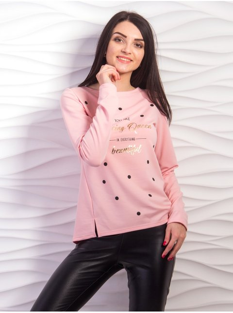 Легкий свитер с блестящей надписью. Арт.2217