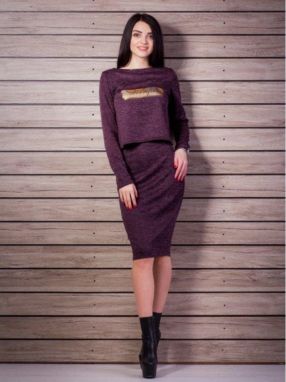 Легкий костюм: кофта+юбка. Арт.2214