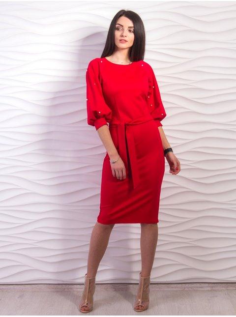 Платье с объемными рукавами. Арт.2194