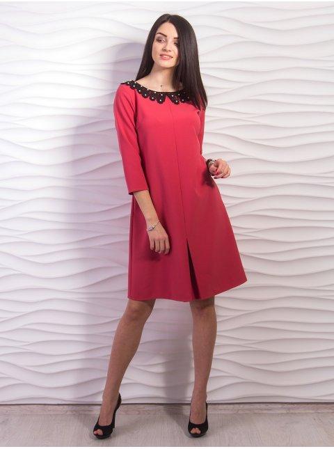 Платье А-силуэта с контрастным воротником. Арт.2212