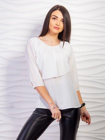 Легкая блуза с воланом на груди. Арт.2271