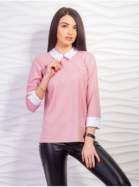 Кофта с воротником и манжетами из рубашки. Арт.2232