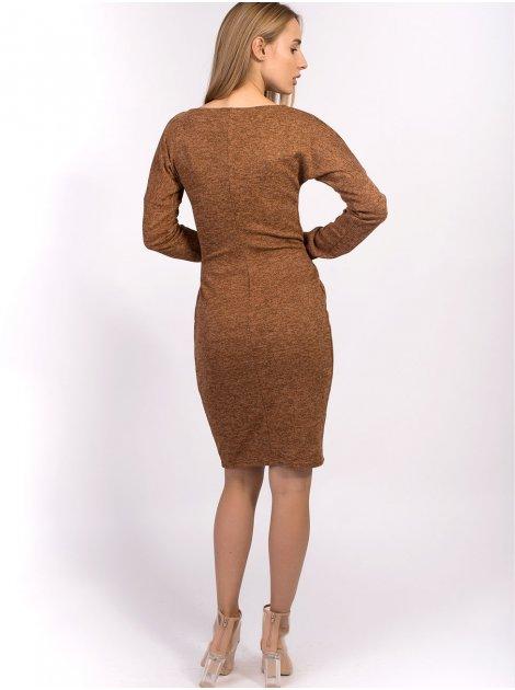 Красивое платье из ангоры с поясом 2529