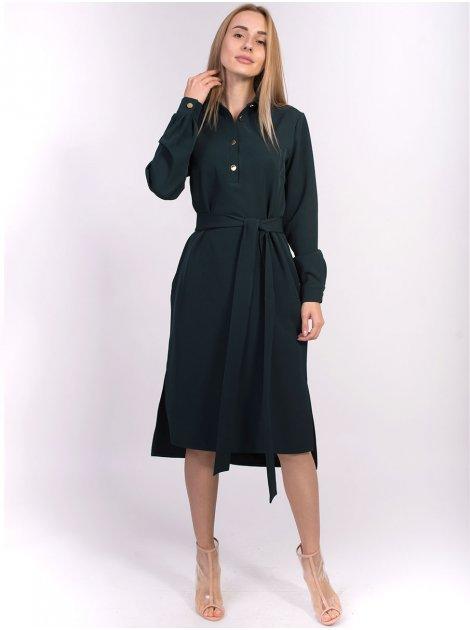 Платье на пуговицах с отложным воротником 2846