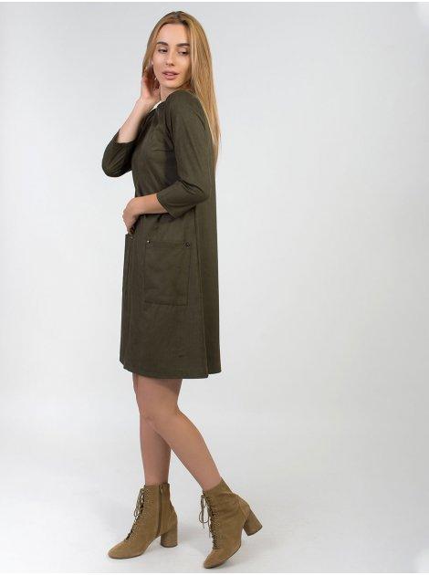 Замшевое платье трапеция 2847