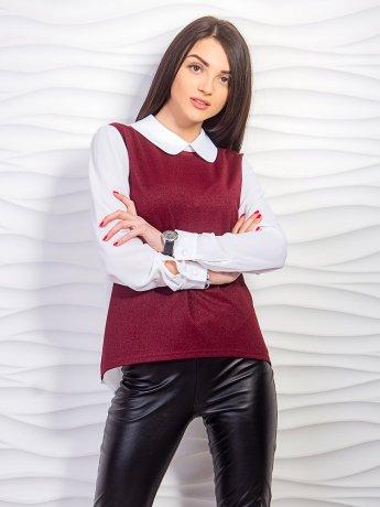 Блуза с шифоновыми рукавами и спинкой. Арт.2241