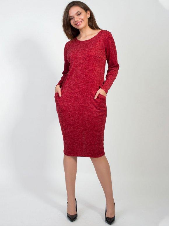 Трикотажное платье с карманами 2156