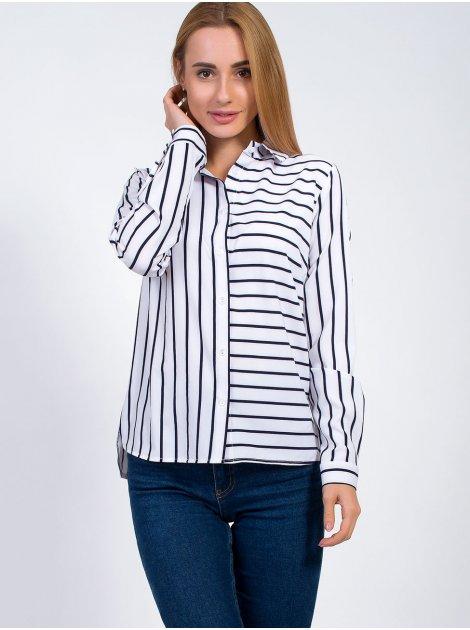 Стильная блуза в полоску 2862