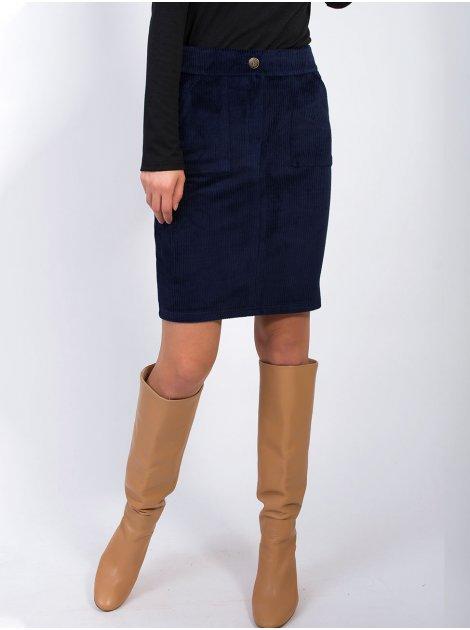 Вельветовая юбка с карманами 2866