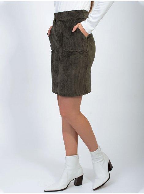 Вельветова спідниця з кишенями 2866