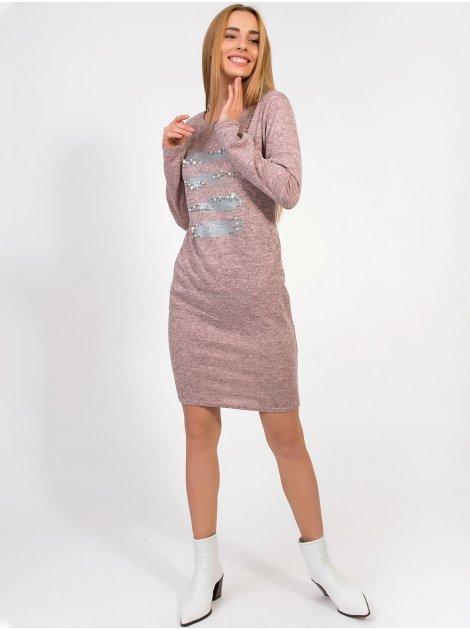 "Платье с принтом ""мазки кисти"" 2865"