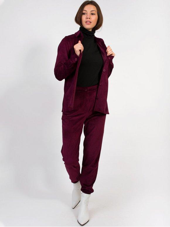 Вельветовий костюм з брюками 2849