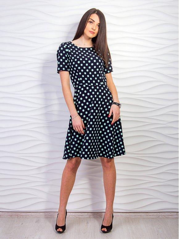 черное платье в горошек фото