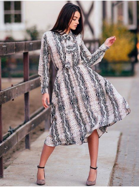 Платье с принтом змеи 2864