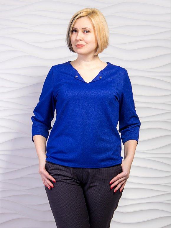 Легкая блуза батал с четвертным рукавом. Арт.2253