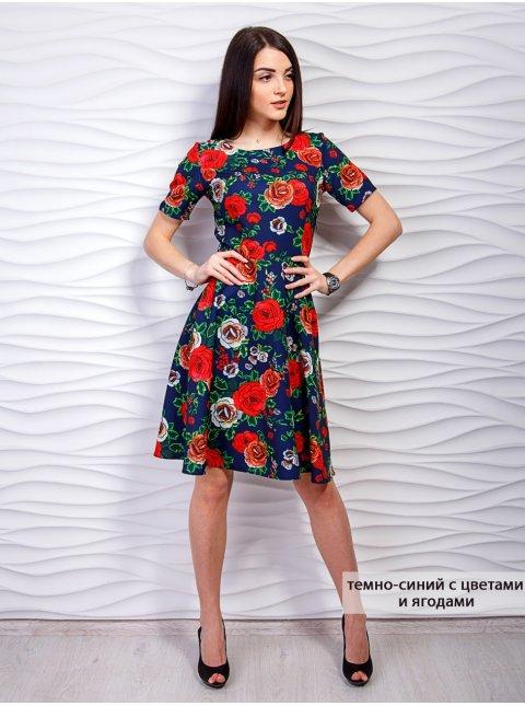 Легкое платье с цветочным принтом. Арт.2297
