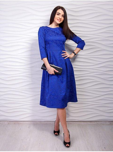 Платье с расклешенной юбкой со складками. Арт.2147